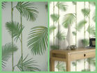 Green Palm Leaves Wallpaper - Caicos Fern Jungle Leaf - Smooth Tropical - 10695