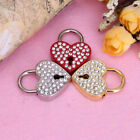 Mini Heart Shape Rhinestone Case Gym Luggage Locker Padlock & Key Home Appliance