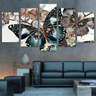 Abstract Floral Butterfl Art Wall Canvas Painting HD Print 5 Pictures Home Decor