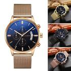 New Men Fashion Steel Band Round Analog Quartz Wrist Watch Bracelet DZ88