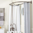 English Side Mount Hand Shower Conversion Kit With D Style Shower Ring