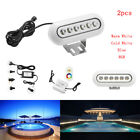 2pc 12V Underwater Led Marine Boat Lights IP68 for Swimming Pool Ponds Fish Tank