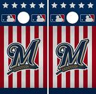 Milwaukee Brewers Cornhole Wrap MLB America Game Skin Set Vinyl Decal CO496 on Ebay
