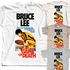 Game of death Bruce Lee T-SHIRT (WHITE,KHAKI,SKY BLUE) all sizes S to 5XL