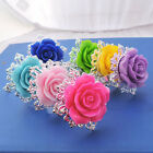 5X Rose Flower Napkin Ring Serviette Holder Home Wedding Banquet DinnerGift