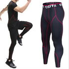 New Sports Mens Long Pants Tight High Stretch Fitness Training Gym Pants Legging