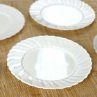 "Hard Plastic 10"" ROUND DINNER PLATES Party Wedding Catering Disposable TABLEWARE"