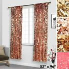 Big Payette Sequin 52 x 96-Inch Window Drapes Curtains 2 Panels Home Decor SALE