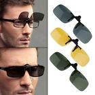 Driving Night Vision Clip-on Flip-up Lens Sunglasses Glasses Cool Eyewear Golf