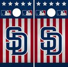 San Diego Padres Cornhole Wrap MLB America Game Board Skin Set Vinyl Decal CO521 on Ebay