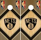 Brooklyn Nets Cornhole Wrap NBA Game Wood Board Skin Set Vinyl Decal CO564 on eBay