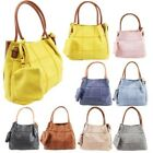 New Block Pattern Faux Leather Two Toned Ladies Large Shopper Bag & Purse