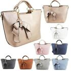 New Women's Synthetic Leather Bow Embellishment Fashion Tote Bag