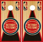 Detroit Pistons Cornhole Wrap NBA Vintage Game Board Skin Set Vi on eBay
