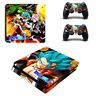 newest dragon ball full protector decal for play station 4 slim console + 2 cont