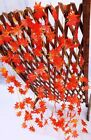 2.4m Wedding Home Decor Red Autumn Leaves Garland Maple Leaf Vine Fake Foliage