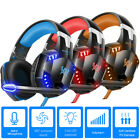 xbox one headset surround - Gaming Headset 3D Stereo LED Headphones 3.5mm Surround Sound For PS4 Xbox One