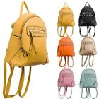 New Faux Leather Convertible Studs Tassels Detail Ladies Handbag Backpack