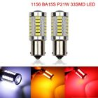 1156 Ba15s P21w 33smd Led Car Backup Reverse Rear Light Bulbs Amber White Red