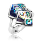Ladies Shipton and Co Silver and Paua Shell Ring TDA168PA