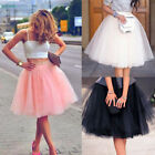 Women Adult Layers Tulle Skirt Long Dress Princess Girls Ballet Tutu Dance Skirt