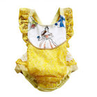 Внешний вид - NWT Disney Princess Belle Beauty and the Beast Baby Girls Ruffle Lace Romper