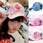 Fashion Women's Summer Baseball Butterfly Embroidered Cap Golf Hat Adjustable