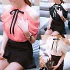Fashion Korean Women Summer Sexy Off Shoulder Blouse Sweet Chiffon Shirt TOPS