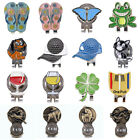 New 10Style Golf 4 Leaf Clover Golf Ball Marker With Magnetic Hat Clip Clamp