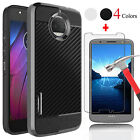 Shockproof Hybrid Rugged Case Cover +Screen Protector for Motorola Moto G5s Plus
