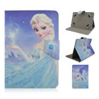"""Princess Universal Buckle Leather Stand Cover Case For 7""""8""""10"""" Tablet+A Stylus"""