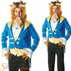 Mens Beauty & The Beast Official Disney Fancy Dress Costumes Halloween Outfit