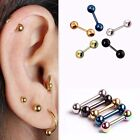 2X Surgical Steel Barbell Ear Cartilage Tragus Helix Stud Bar Earring Piercing image