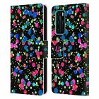 HEAD CASE DESIGNS CONFETTI LEATHER BOOK WALLET CASE COVER FOR HUAWEI PHONES