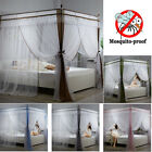 Thicken Double Pearl Mosquito Nets & Bed Canopy Bracket Post Curtain Queen Size image