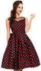 Dolly and Dotty ELIZABETH Polka Dot MESH Punkte SWING DRESS Kleid Rockabilly