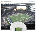 2 tickets section 447 Row 10 Dallas Cowboys vs New York Giants