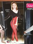 IN STOCK Long Sleeve Black & Red Stripe Catsuit Dance Costume Adult Small  3