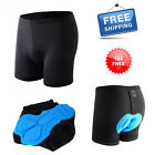 Men 3D Padded Cycling Shorts Bicycle Underwear Breathable Anti Slip Elastic New