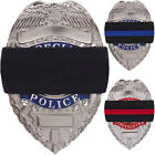 2-Pack Shield Mourning Bands Memorial Honor Badge Elastic Stretch Black Blue Red