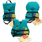 Girls Life Jacket Boat Swimming Swim Vest PFD Teal Hula Infant Child Youth