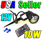 12V AC Low Voltage 10W RGB Color LED Stake Light Landscape Garden Outdoor Remote