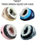 *NEW* TRIXIE MINOU CAT KITTEN WARM COSY CUDDLY CAVE CAT BED IGLOO COLOUR CHOICE