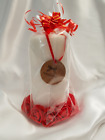 Stunning Gift Wrapped Large Pillar Candle-Birthday/Wedding/Table Centre-Add Name