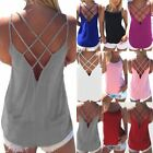 Women's Summer Sleeveless Vest Tank Tops Blouse Tee Ladies S