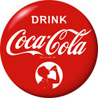Drink Coca-Cola Red Disc Decal Boy Silhouette Wall Decal 1930s Style Button