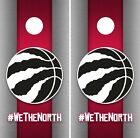 Toronto Raptors Cornhole Wrap NBA Game Skin Board Vinyl Decal Art Set CO718 on eBay