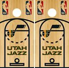 Utah Jazz Cornhole Wrap NBA Game Skin Board Vinyl Decal Court Set CO722 on eBay