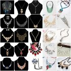New Fashion Women Crystal Rhinestone Jewelry Love Charm Statement Necklace US