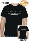 The Smiths / Morrissey T-shirt / Lyrics / I WEAR BLACK ON THE OUTSIDE / S-XXL